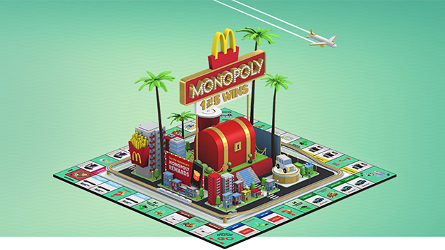 Gamification McDonalds Monopoly
